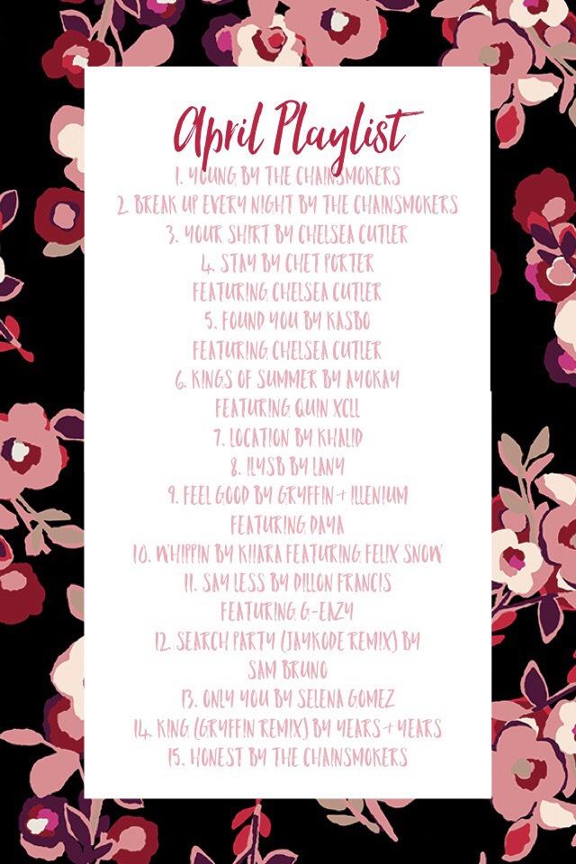 April Playlist 2017
