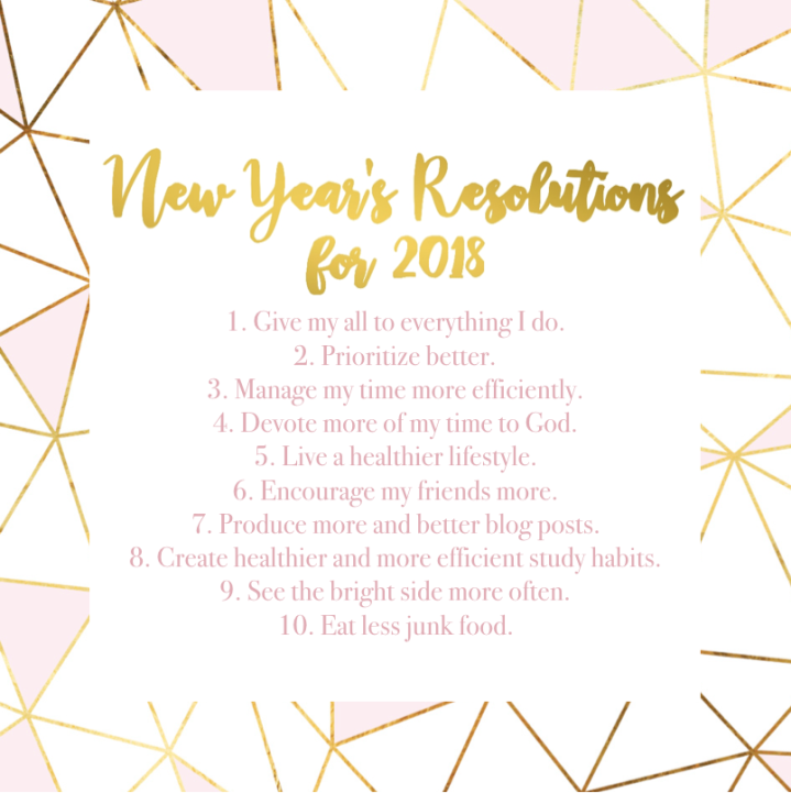 New Year's Resolutions for 2018 Collab