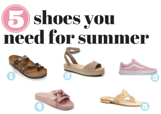 shoes you need for summer