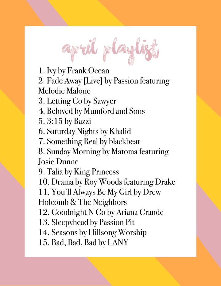 April Playlist 2019
